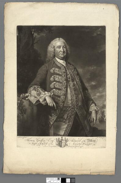 Thomas Griffin Esqr Admiral of the white,...