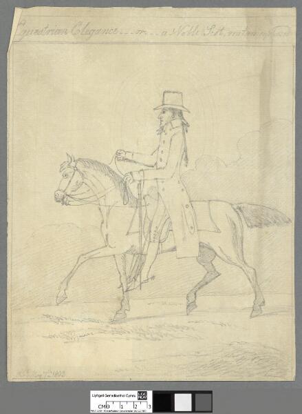 Equestrian elegance...or...a noble Scot,...