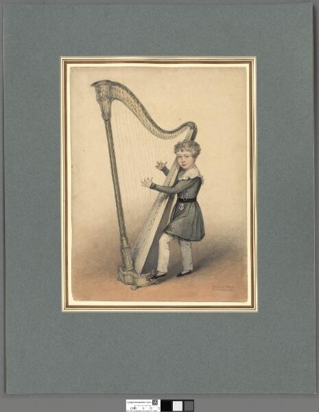 Master Hughes the infant Cambrian harpist