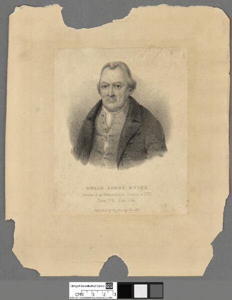 Owain Jones, Myfyr Founder of the Gwyneddigion...