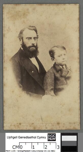 George Arbour Stephens as a boy with his father