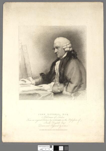 John Boydell Esq Alderman of London