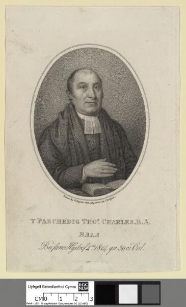 Y Parchedig Thomas Charles, B.A. Bala bu farw...
