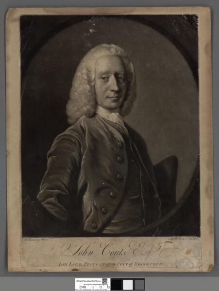 John Couts Esq late Lord Provost of the city of...