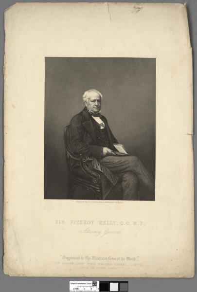 Sir Fitzroy Kelly, Q.C., M.P Attorney General