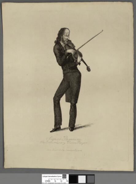 Signor Paganini the extraordinary violin player