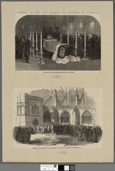 Funeral procession of the late Marquis of...