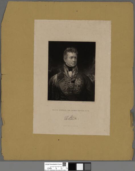 Major General, Sir Thomas Picton, G.C.B