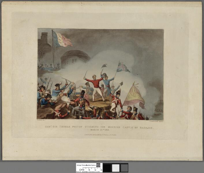 Genl. Sir Thomas Picton storming the moorish...