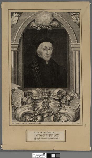 Hugo Price LLD Collegium Jesu Oxon fundari...