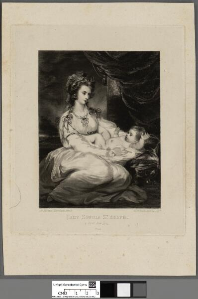 Lady Sophia St. Asaph and her son