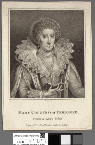 Mary Countess of Pembroke from a rare print