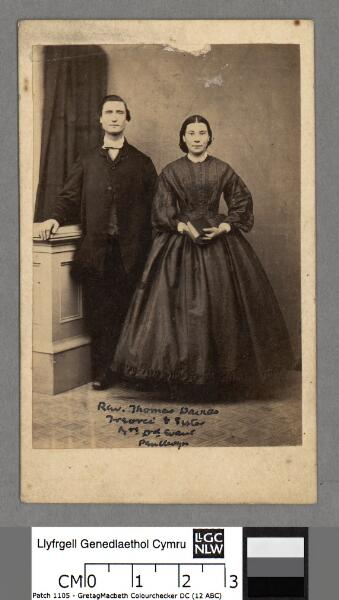 Rev. Thomas Davies Treorci & sister Mrs. David...