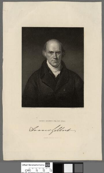Davis Gilbert esq M.P. P.R.S