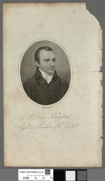 Mr. John Kingston aged 35, Preacher of the Gospel