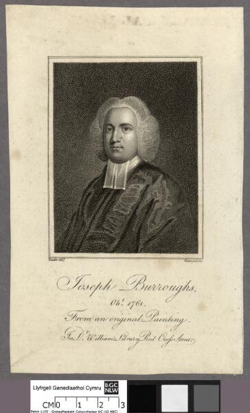 Joseph Burroughs, obt. 1764