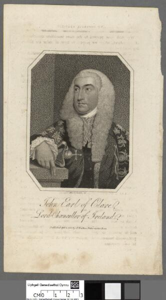 John Earl of Clare Lord Chancellor of Ireland