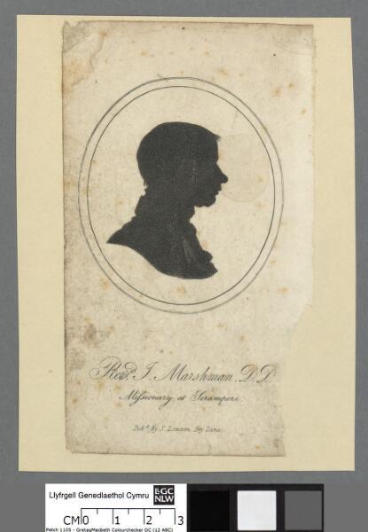 Revd. J. Marshman, D.D missionary at Serampore
