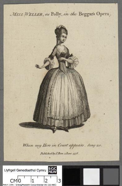 Miss Weller, as Polly, in the Beggar's Opera