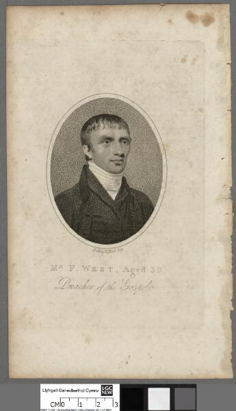 Mr. F. West aged 39, Preacher of the Gospel