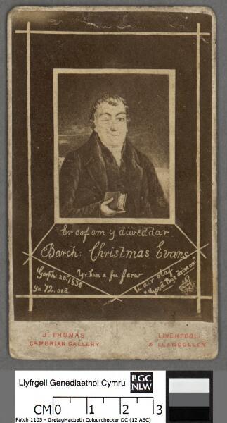 Er cof am y diweddar Barch. Christmas Evans yr...