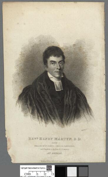 Revd. Henry Martyn, B.D late Fellow of St. John...