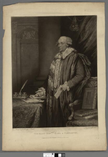 The Right Honble. Earl of Carnarvon