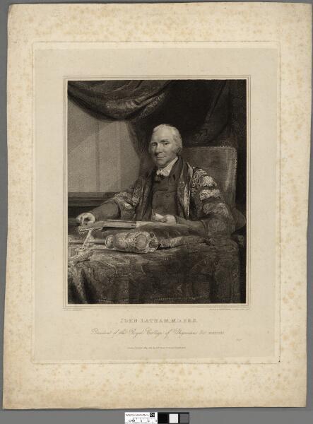 John Latham, M.D. F.R.S President of the Royal...