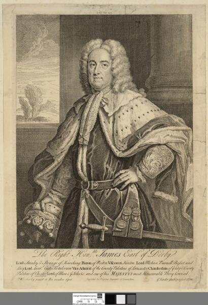 The Right Honble. James Earl of Derby Lord Stanley