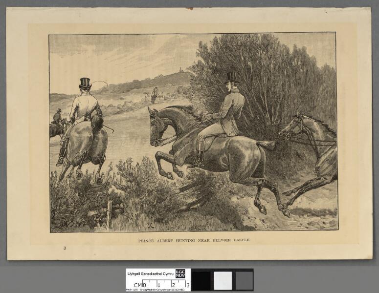 Prin ce Albert hunting near Belvoir Castle
