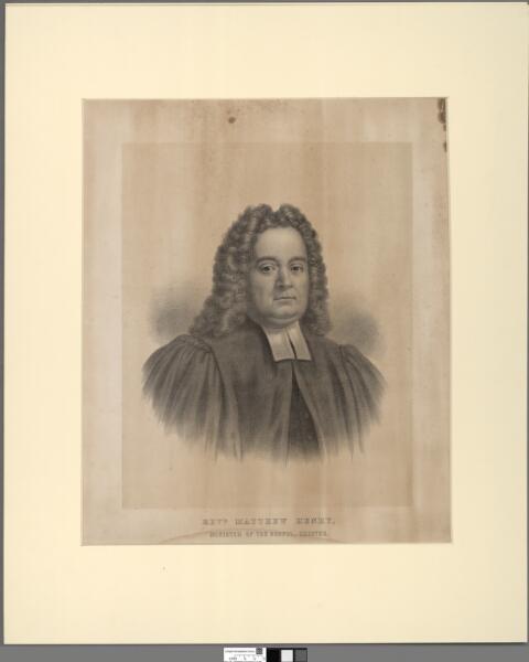 Rev. Matthew Henry Minister of the Gospel, Chester