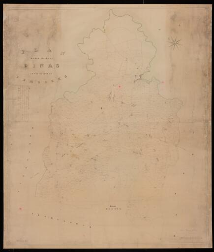 Plan of the parish of Dinas in the County of...