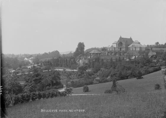View of Bellevue Park in Newport