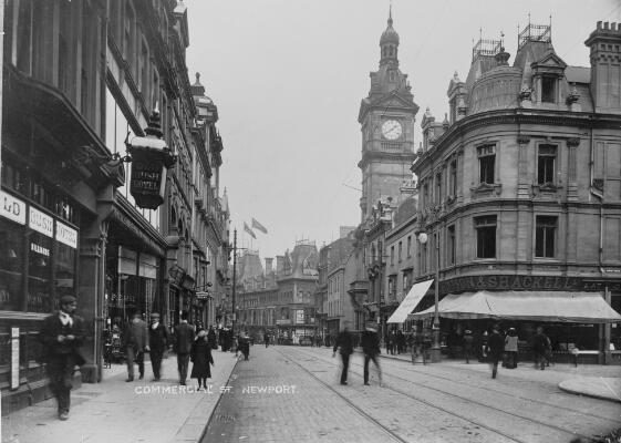 Commercial St, Newport ca.1905