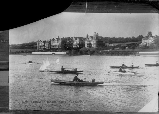 Lake & Houses, Roath Park, Cardiff