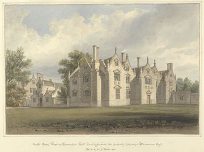 North East View of Trevalyn Hall, Denbighshire;...