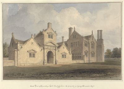 East View of Trevalyn Hall, Denbighshire; the...