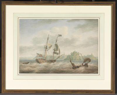 An Admiralty Yacht Running Inshore at Tenby