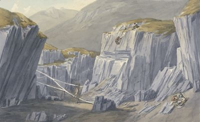 The Slate Quarries at Bron Llwyd