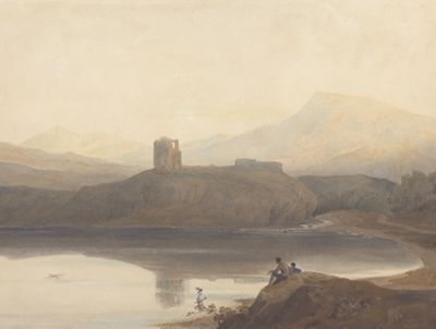 Llanberis Lake, with Castle Dolbadern