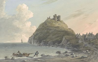 Ruins of Criccieth Castle and Part of the Town...