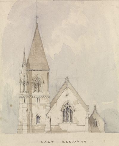Design for St. David, Pantasaph, Flintshire....