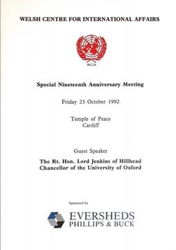 1992 WCIA 19th Anniversary Lecture