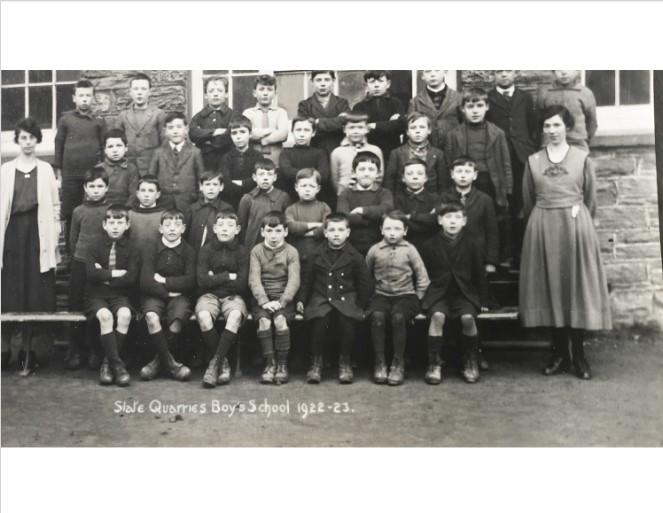 Ysgol y Chwarel Lechi, Blaenau Ffestiniog 1922-23