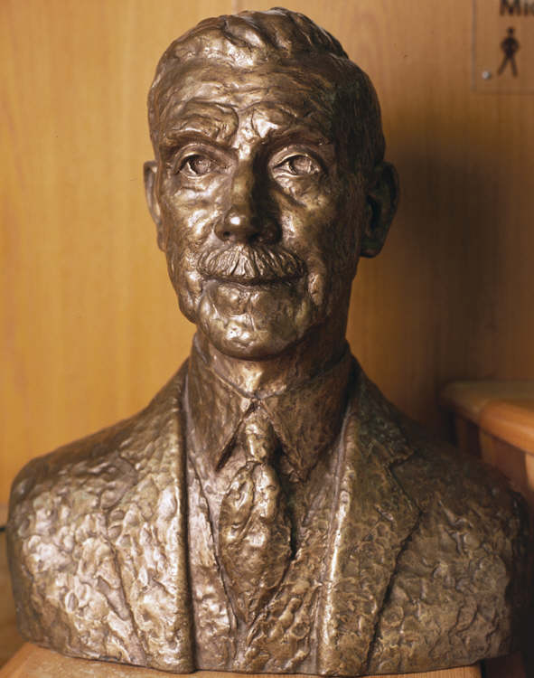Bronze Bust Of Sir David John Jones Situated In The Main Library Of