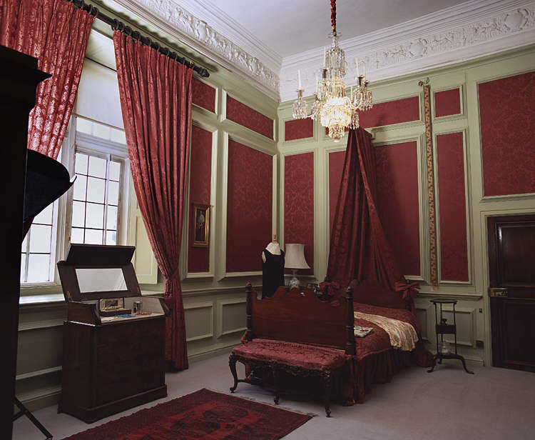 The Red Room, Tredegar House, Newport, 1930s