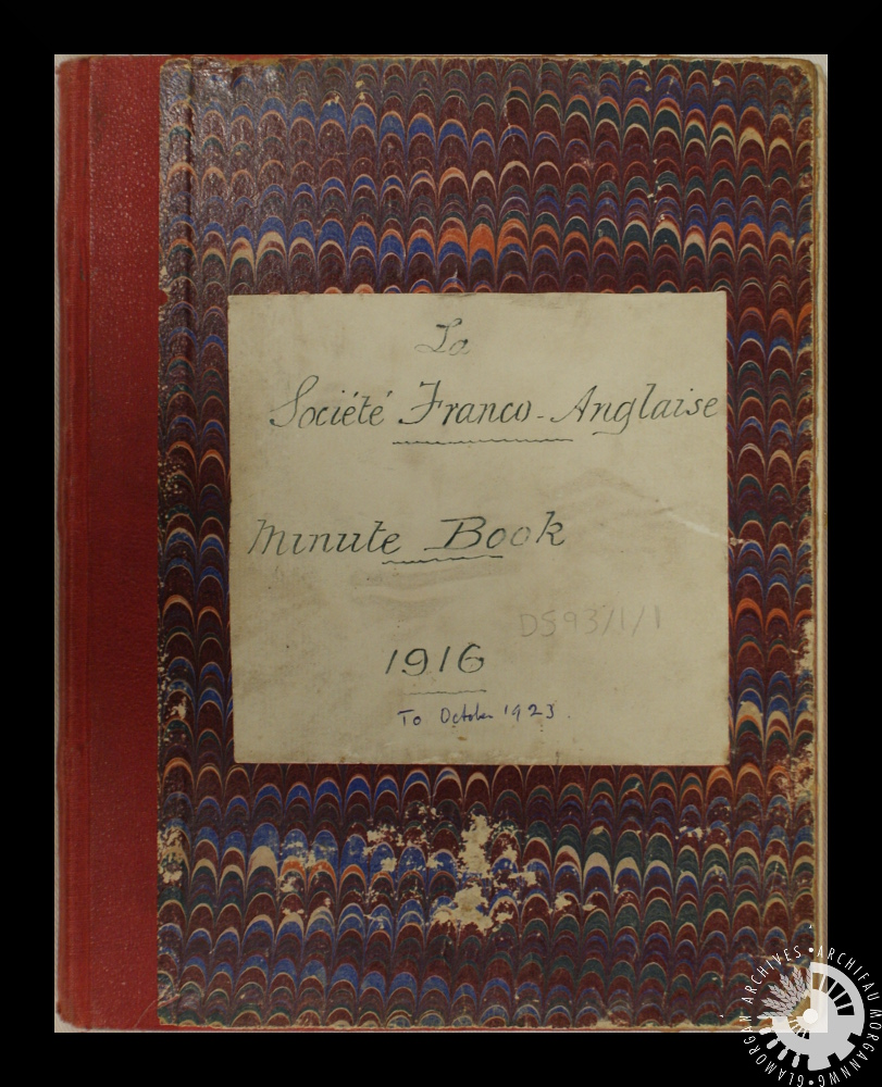 committee meeting minutes book for the société franco anglaise