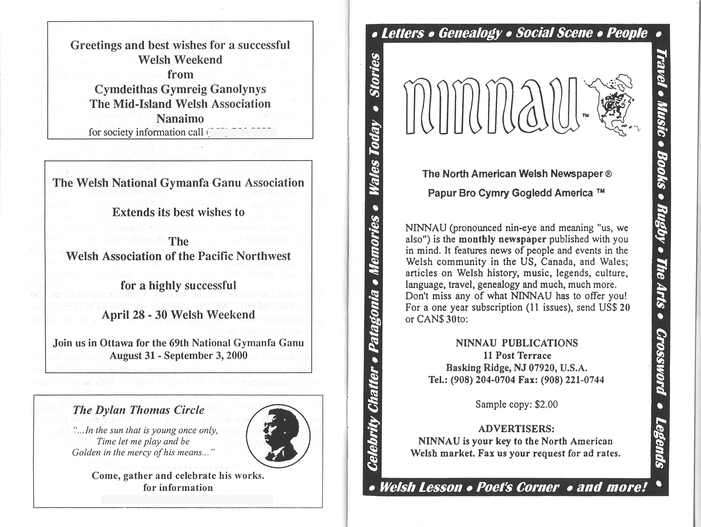2000 Pacific Northwest Welsh Weekend Handbook