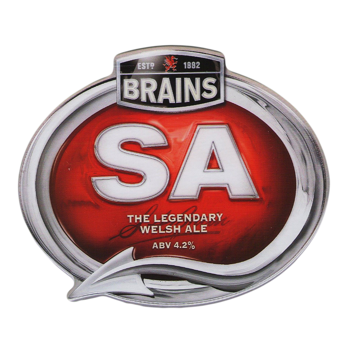 Brains Beer Glass