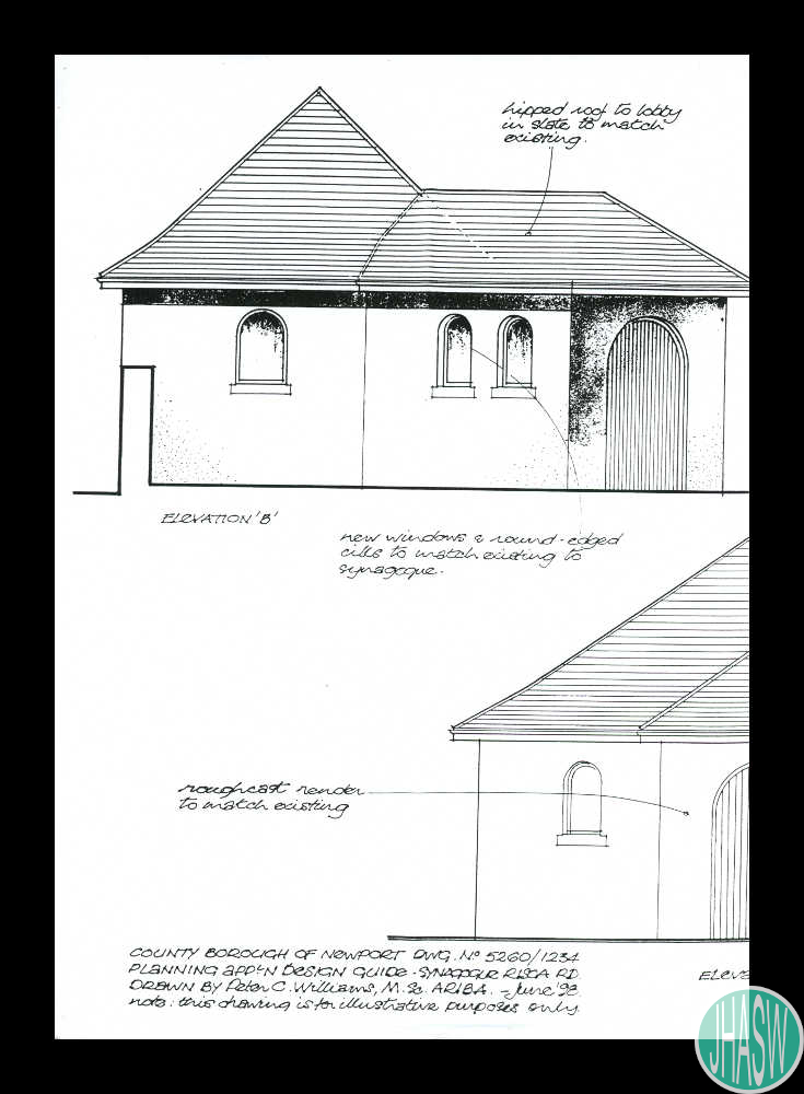 Individual Sections Taken From The Architectural Drawings And Design Guide Of Risca Road Synagogue Newport 1998